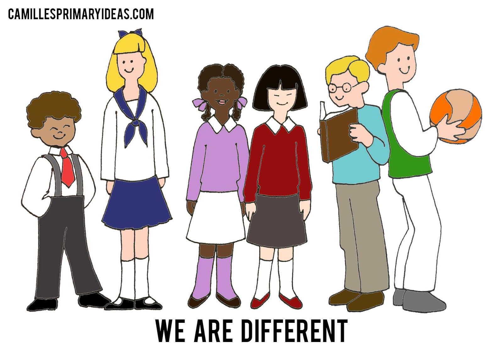 Camille's Primary Ideas: We Are Different Singing Time Lesson Plan Idea