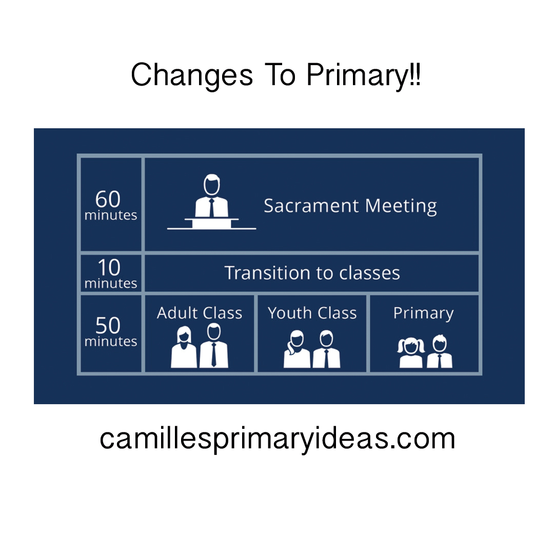 Camille's Primary Ideas: Changes to Primary Announced in General Conference