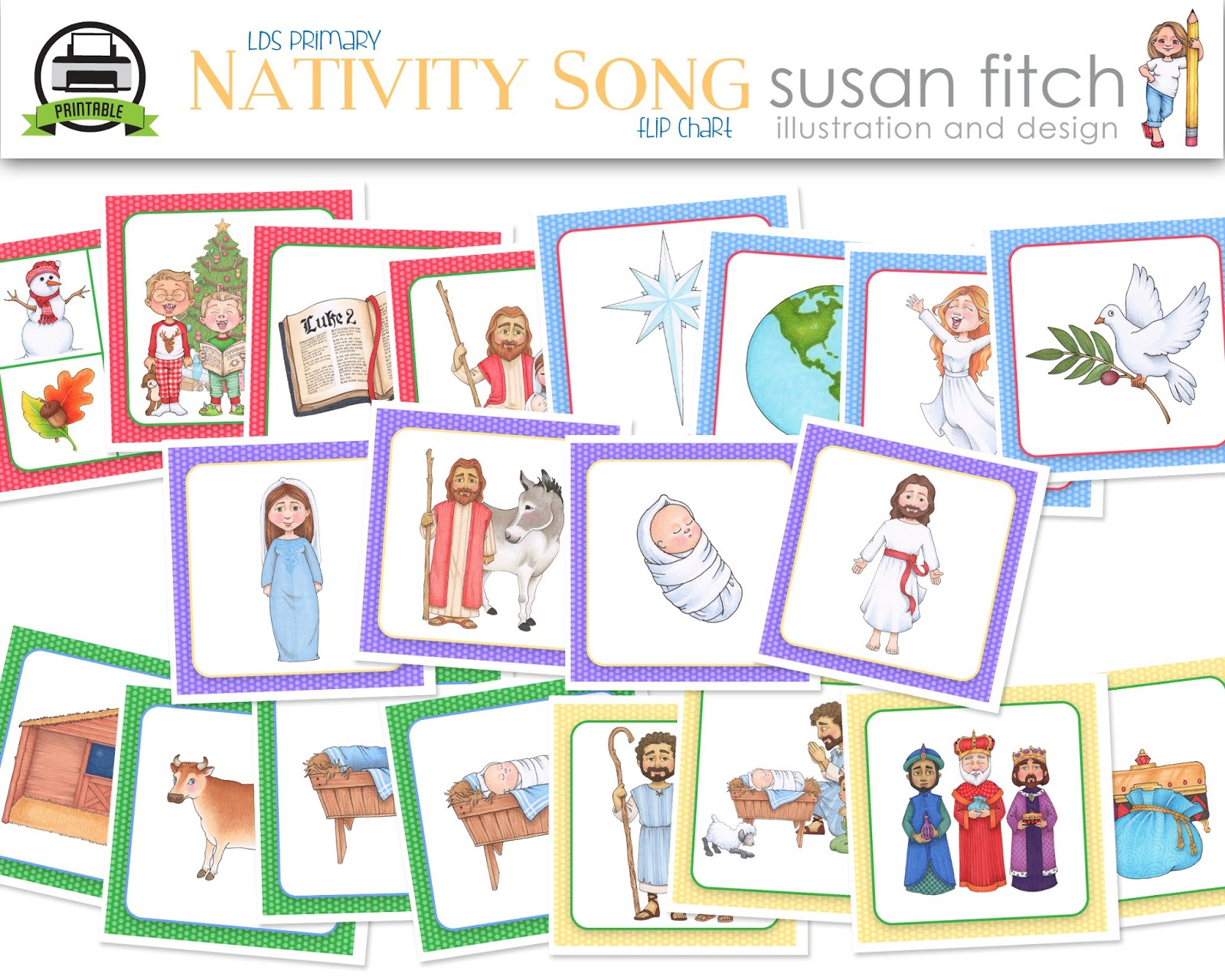 Camille's Primary Ideas: The Nativity Song with Susan Fitch Artwork