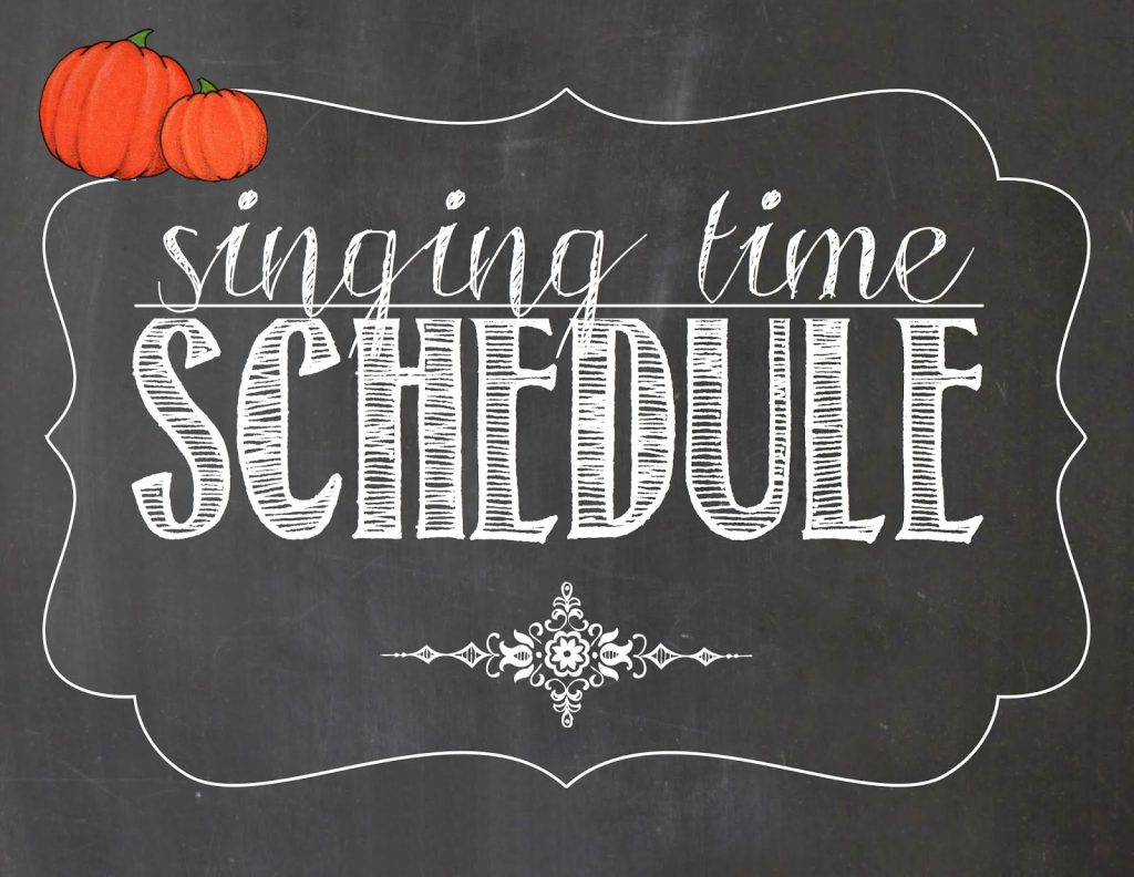 Camille's Primary Ideas: October Singing Time Schedule