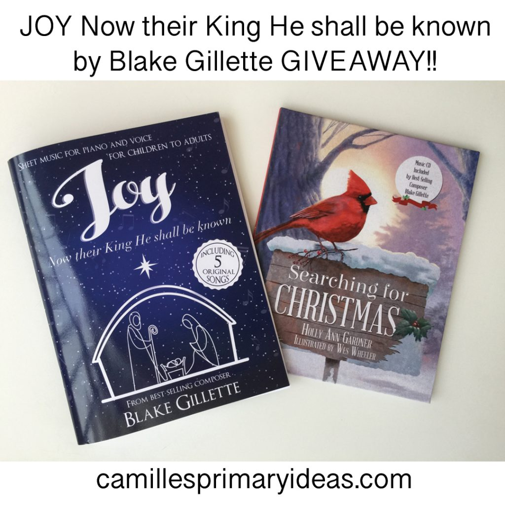 Camille's Primary Ideas: Blake Gilette Joy Now Their King He Shall Be Known