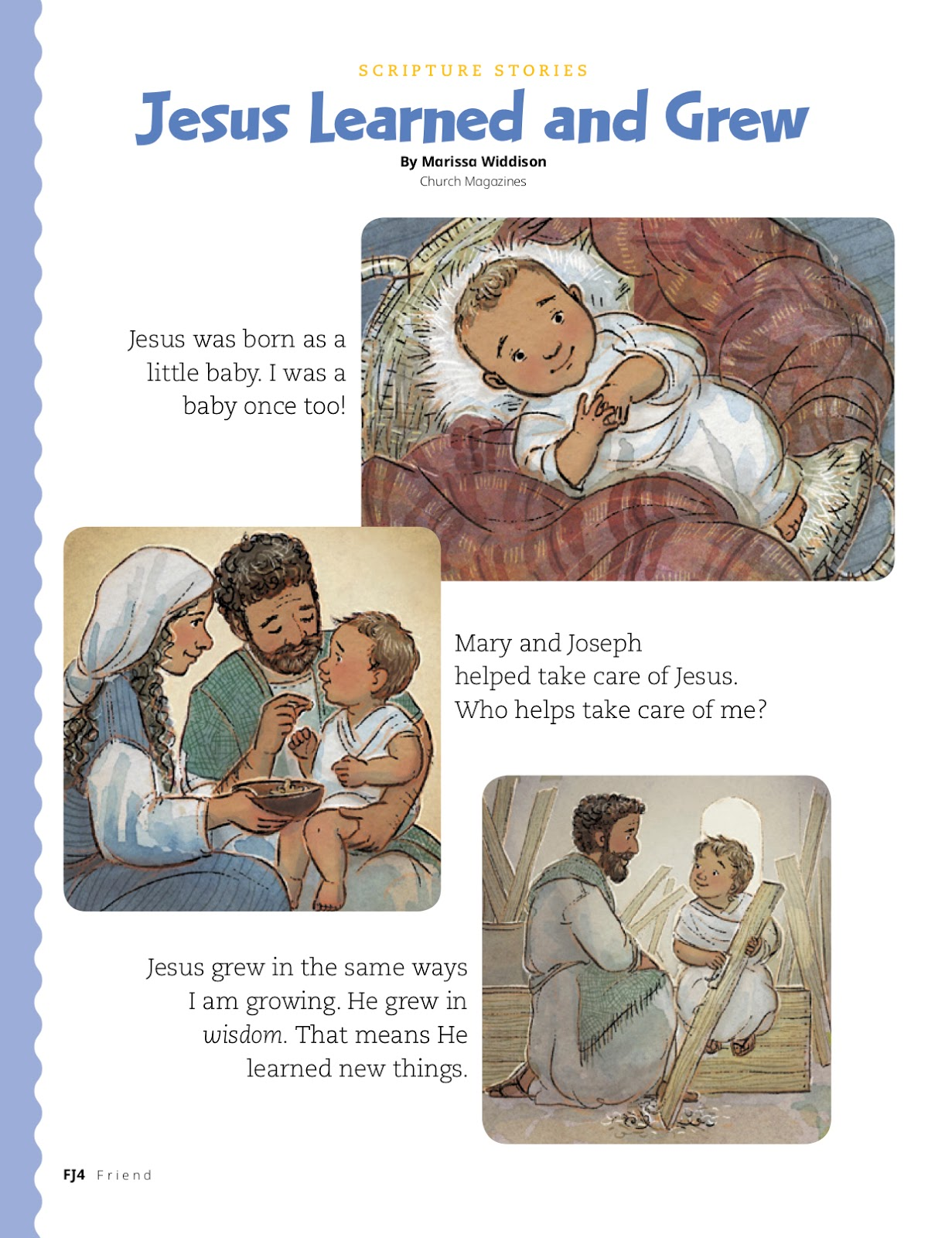 Camille's Primary Ideas Jesus Once Was a Little Child Singing Time Lesson Plan Idea