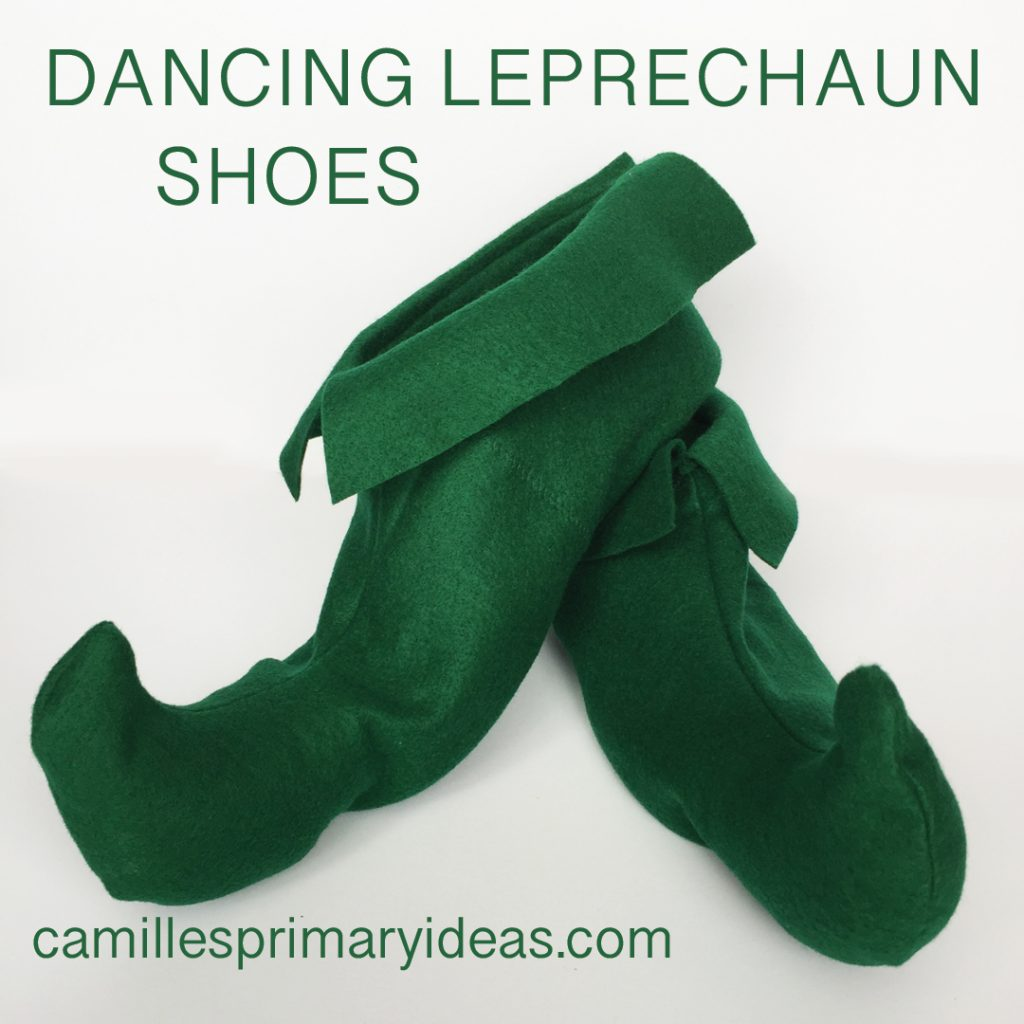 Camille's Primary Ideas Singing Time Ideas for Dancing Leprechaun Shoes for St. Patrick's Day