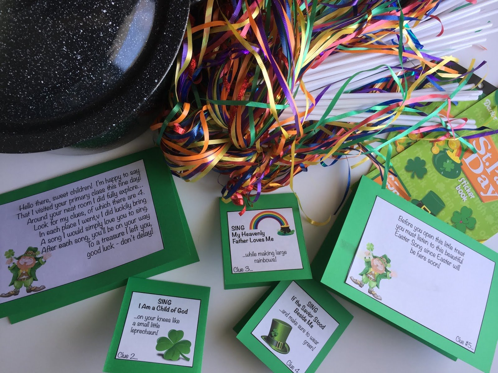 Camille's Primary Ideas: St. Patrick's Day Treasure Hunt Singing Time Lesson Plan Idea