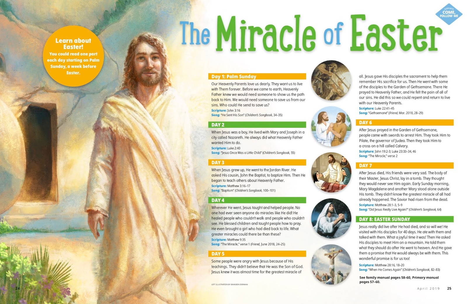 Camille's Primary Ideas The Miracle of Easter Singing Time Lesson Plan Idea