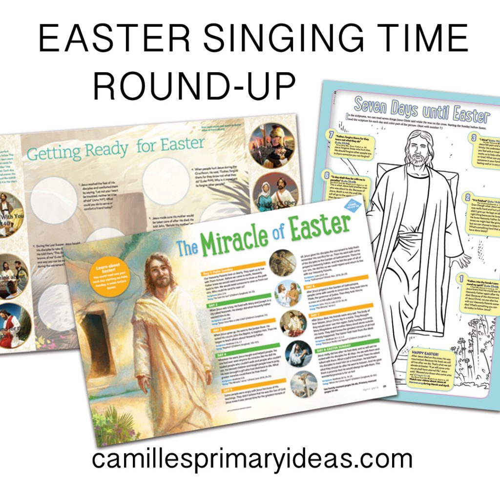 Camille's Primary Ideas Easter Singing Time Round-Up