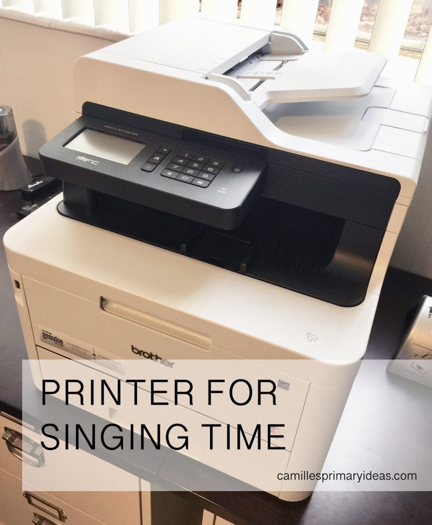 This is the printer I use and recommend for printing all your singing time materials!