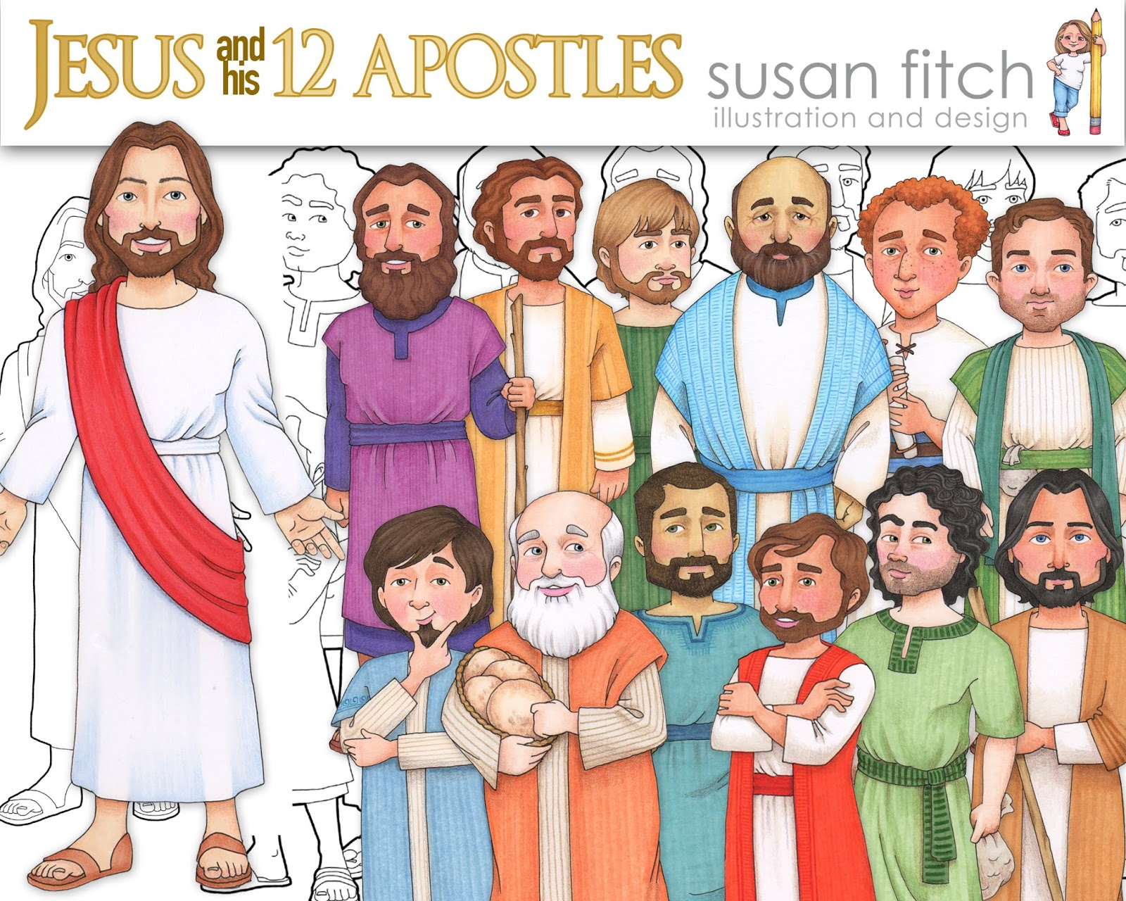 Camille's Primary Ideas using Susan Fitch Jesus and the 12 Apostles Singing Time Review