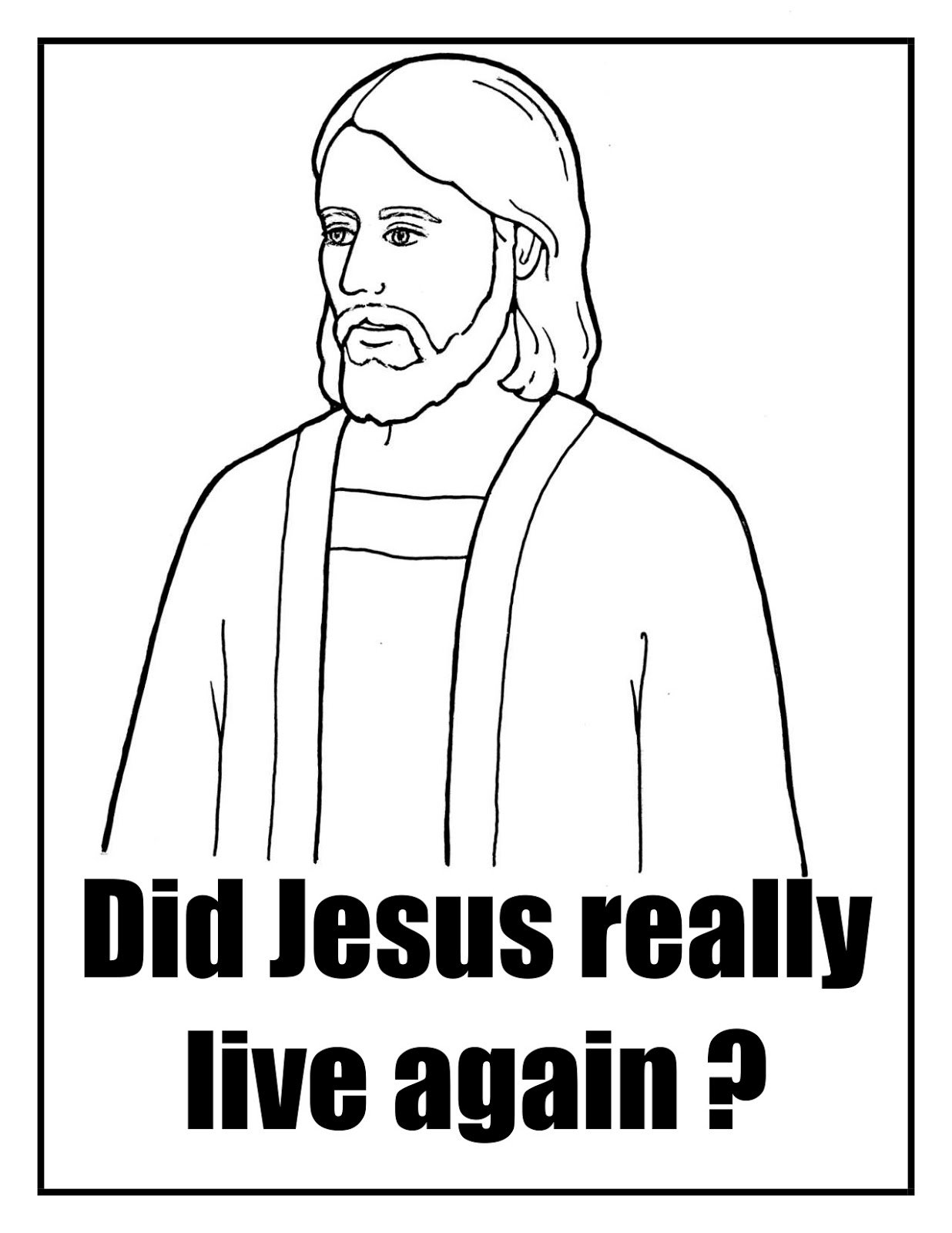 Did Jesus Really Live Again Singing Time Review Activity Flip Chart