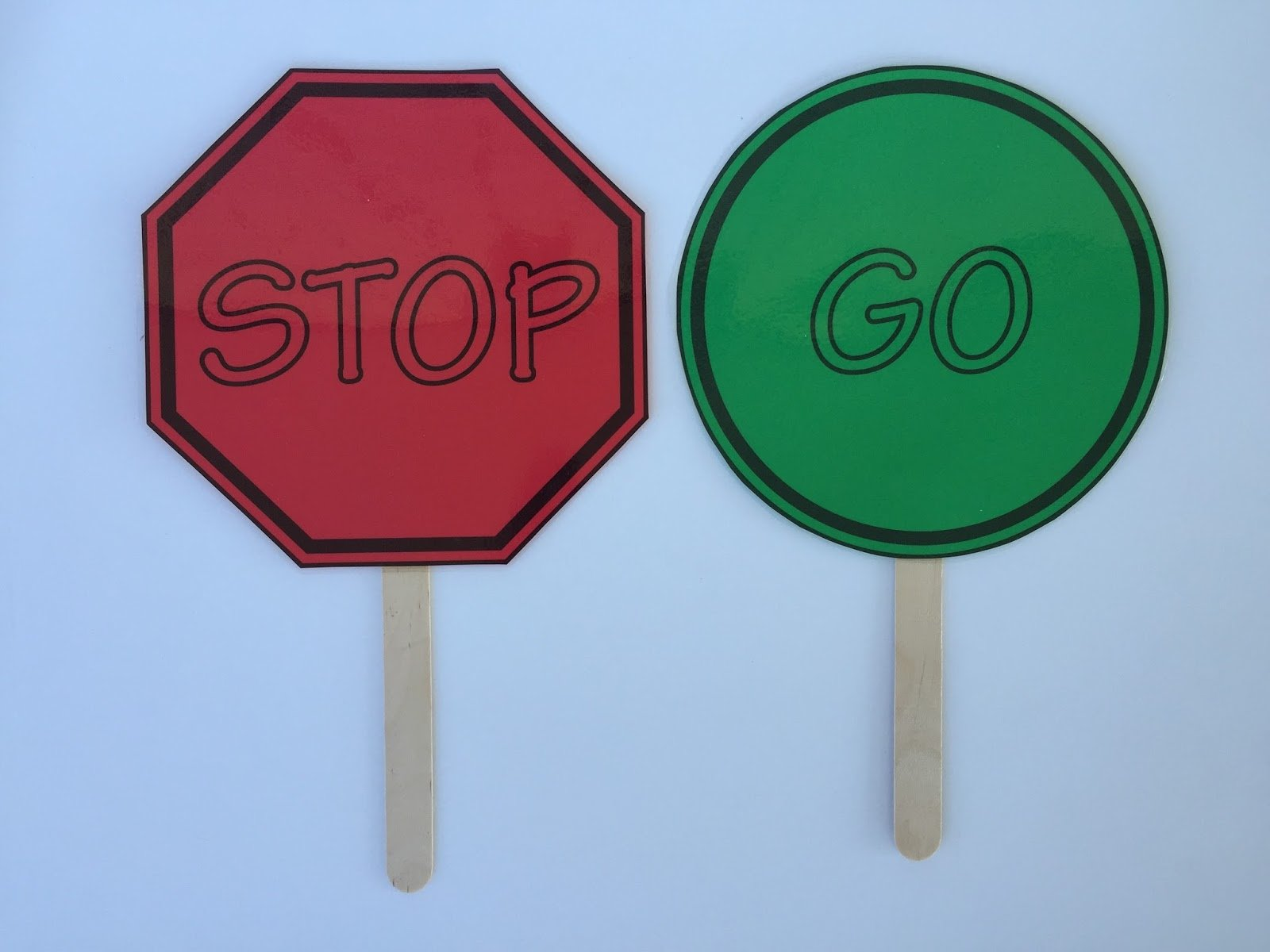 Camille's Primary Ideas: Stop and go singing time review activity