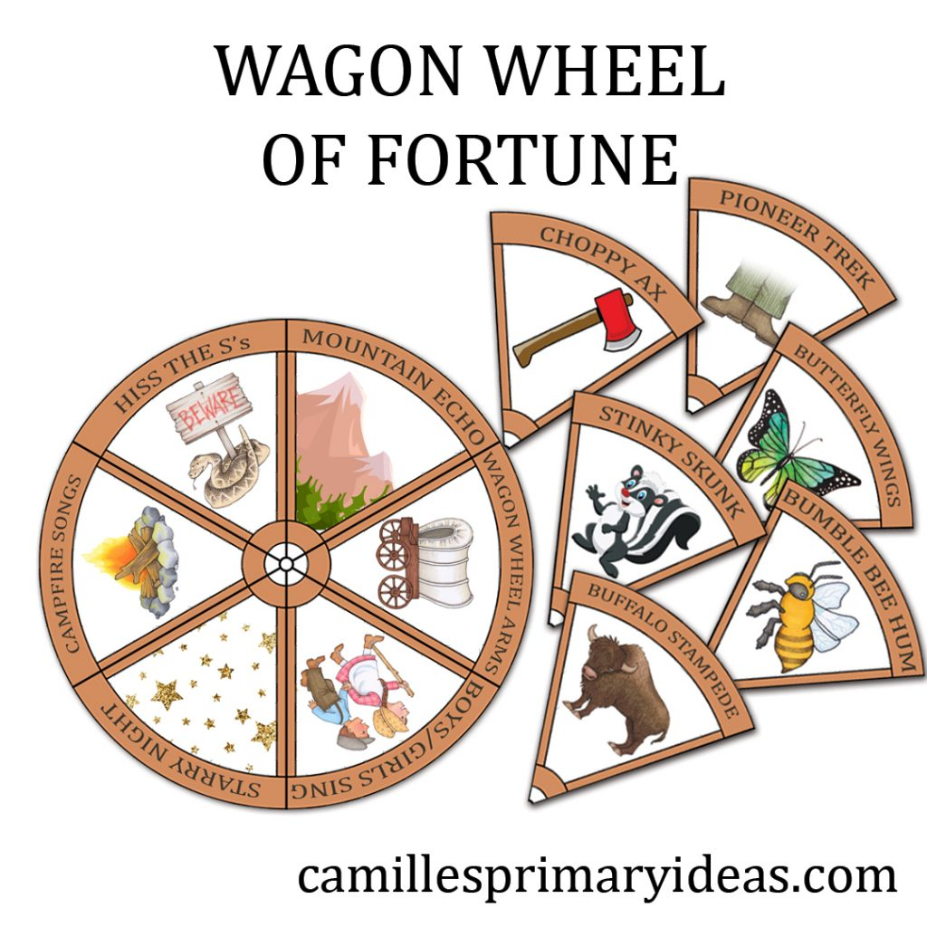 Pioneer Day Singing Time Wagon Wheel of Fortune