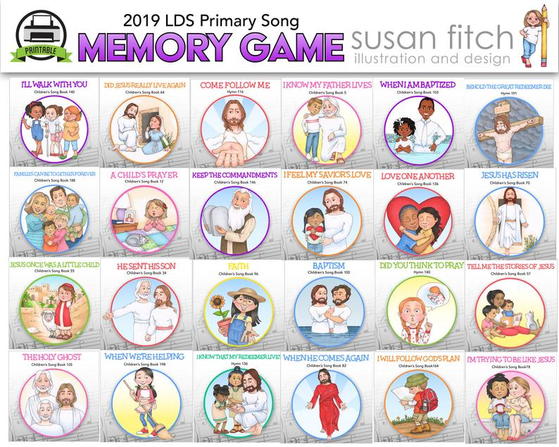 Susan Fitch Memory Game Singing Time Review Activity