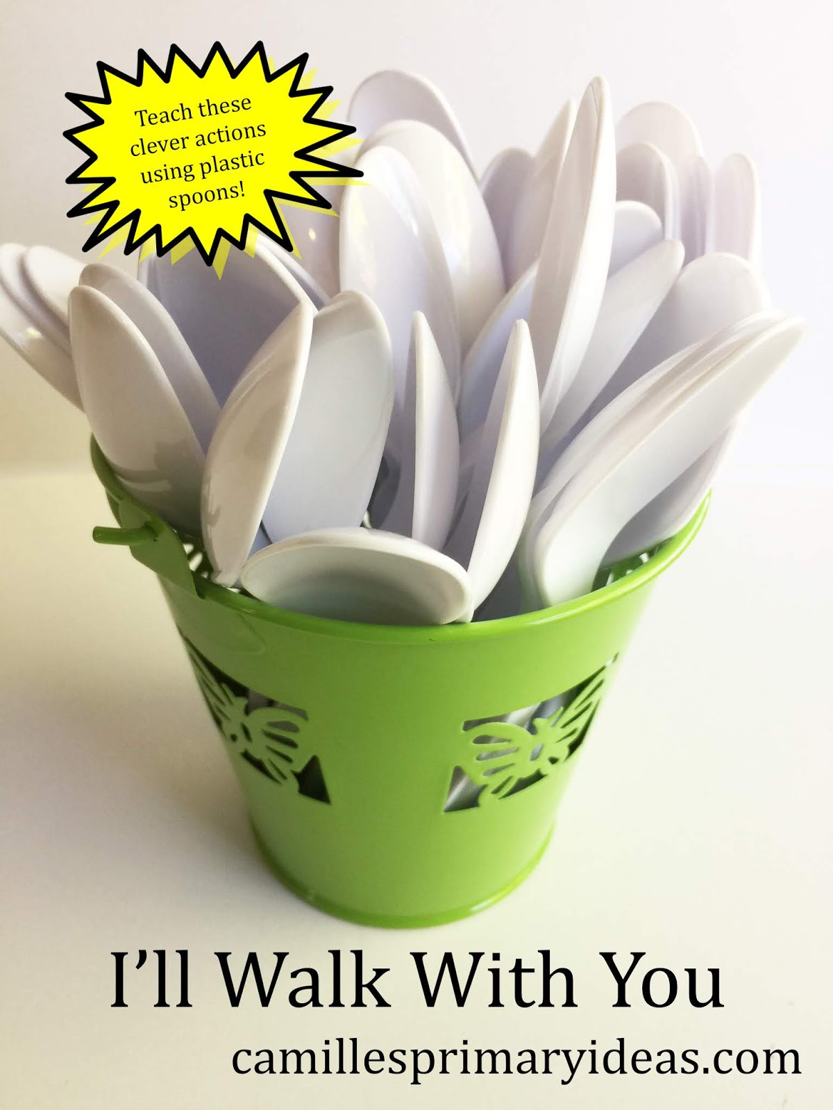 I'll Walk With You Singing Time Lesson Plan using plastic spoons