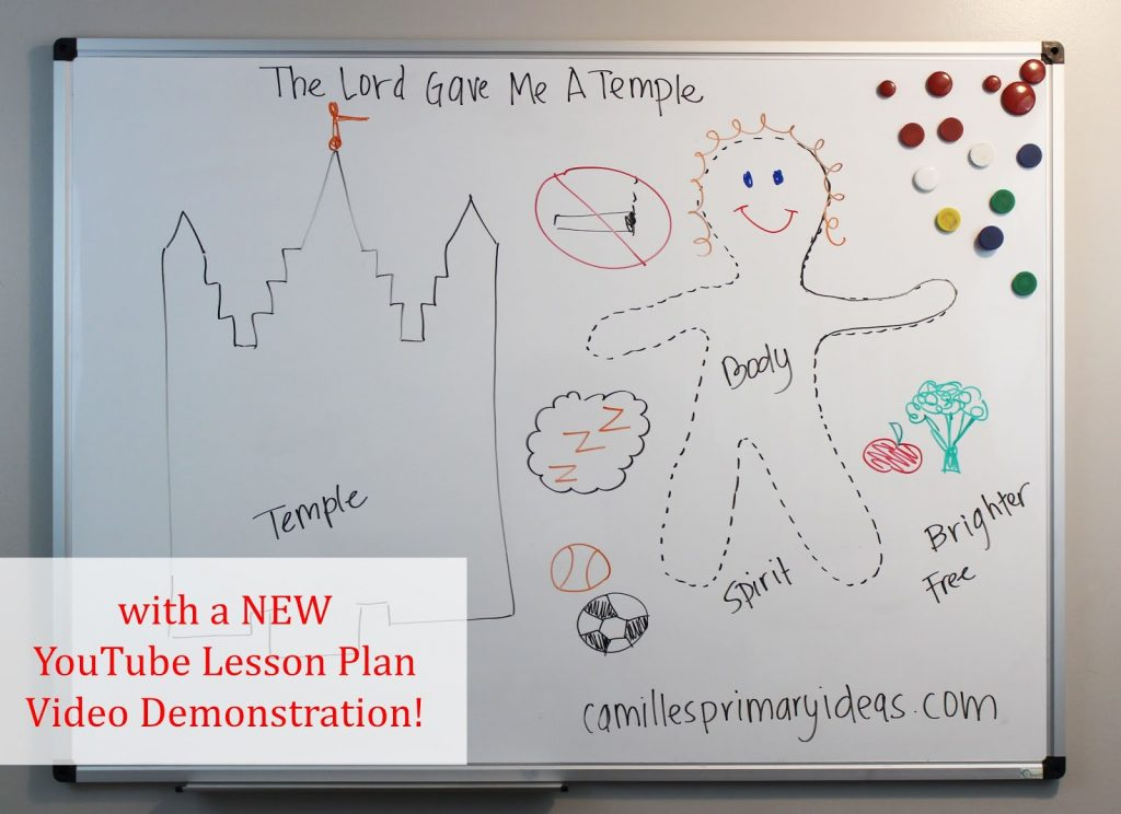 Camille's Primary Ideas: The Lord Gave Me a Temple using the board