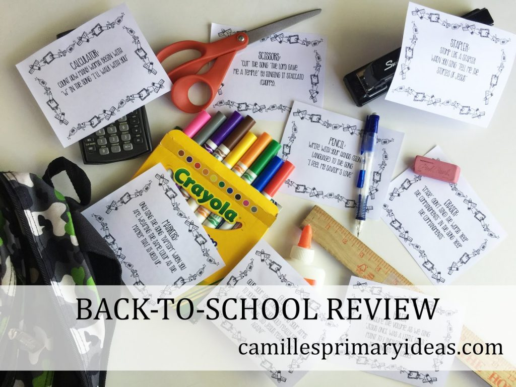 Camille's Primary Ideas: Back-To-School Singing Time Lesson Plan Review