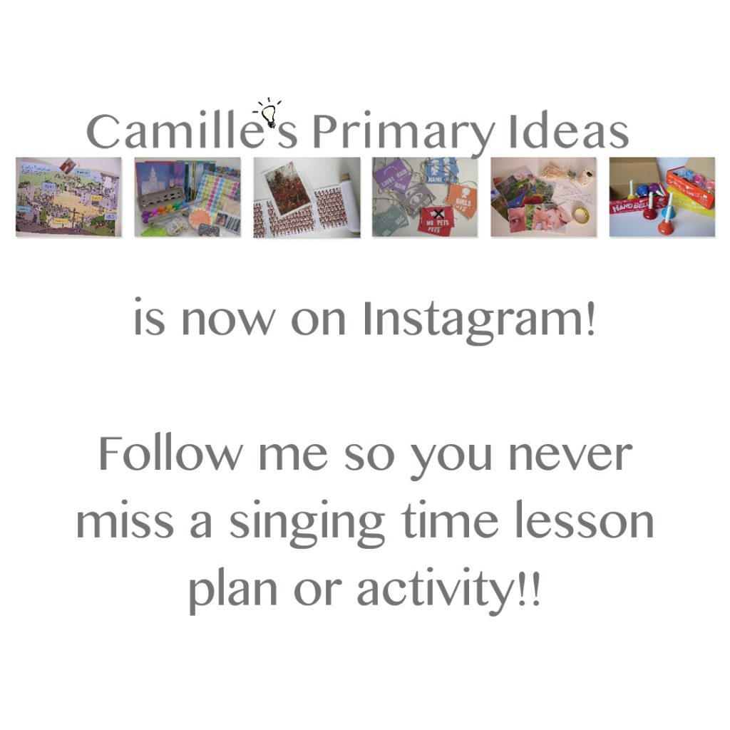 Camille's Primary Ideas is now on Instagram and YouTube