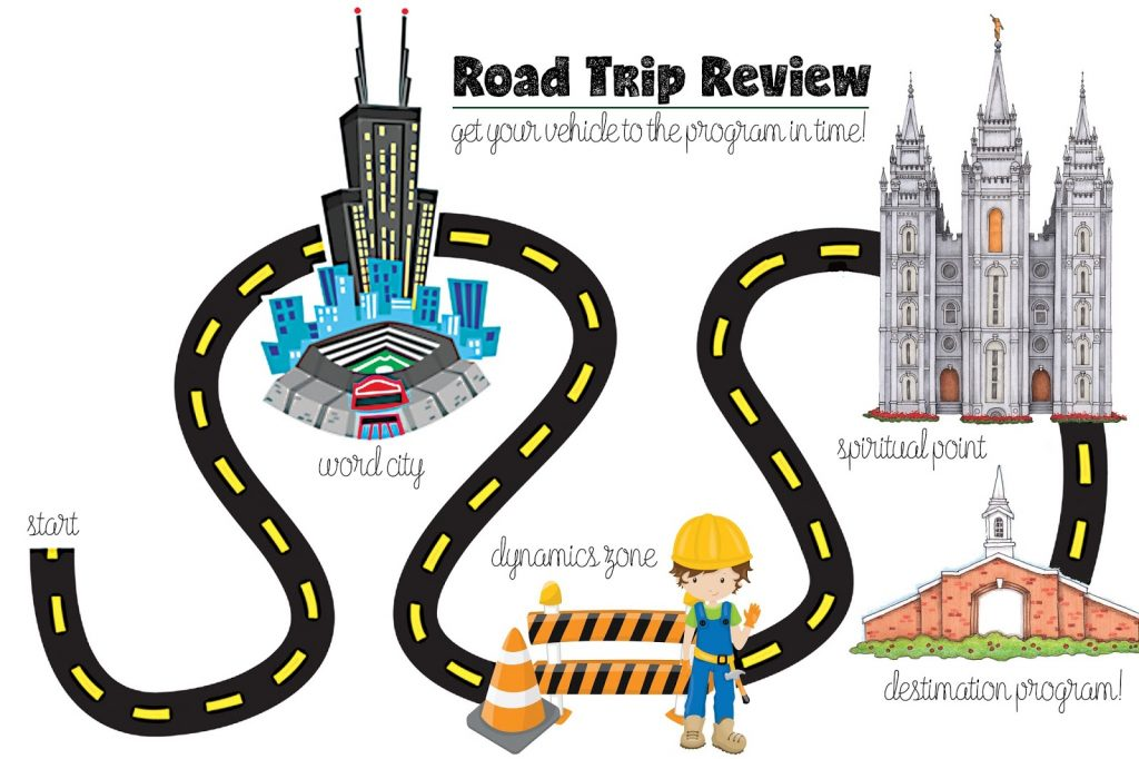 Camille's Primary Ideas: Road Trip Review Primary Program Review Activity