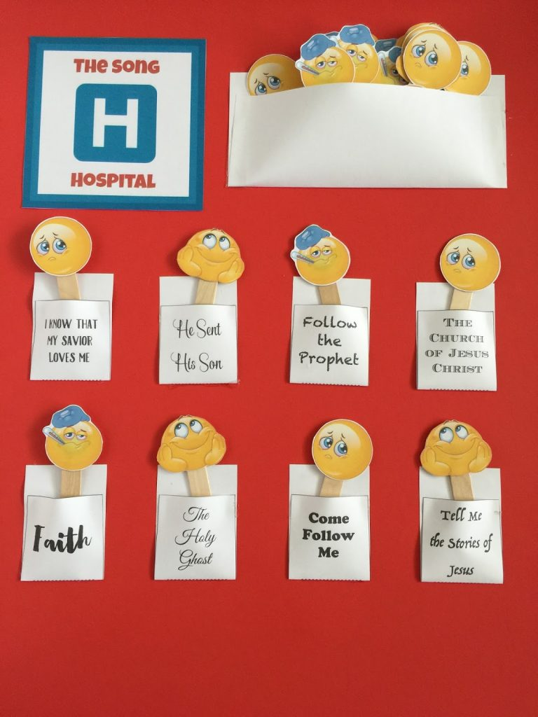 Camille's Primary Ideas: Song Hospital primary program singing time review activity