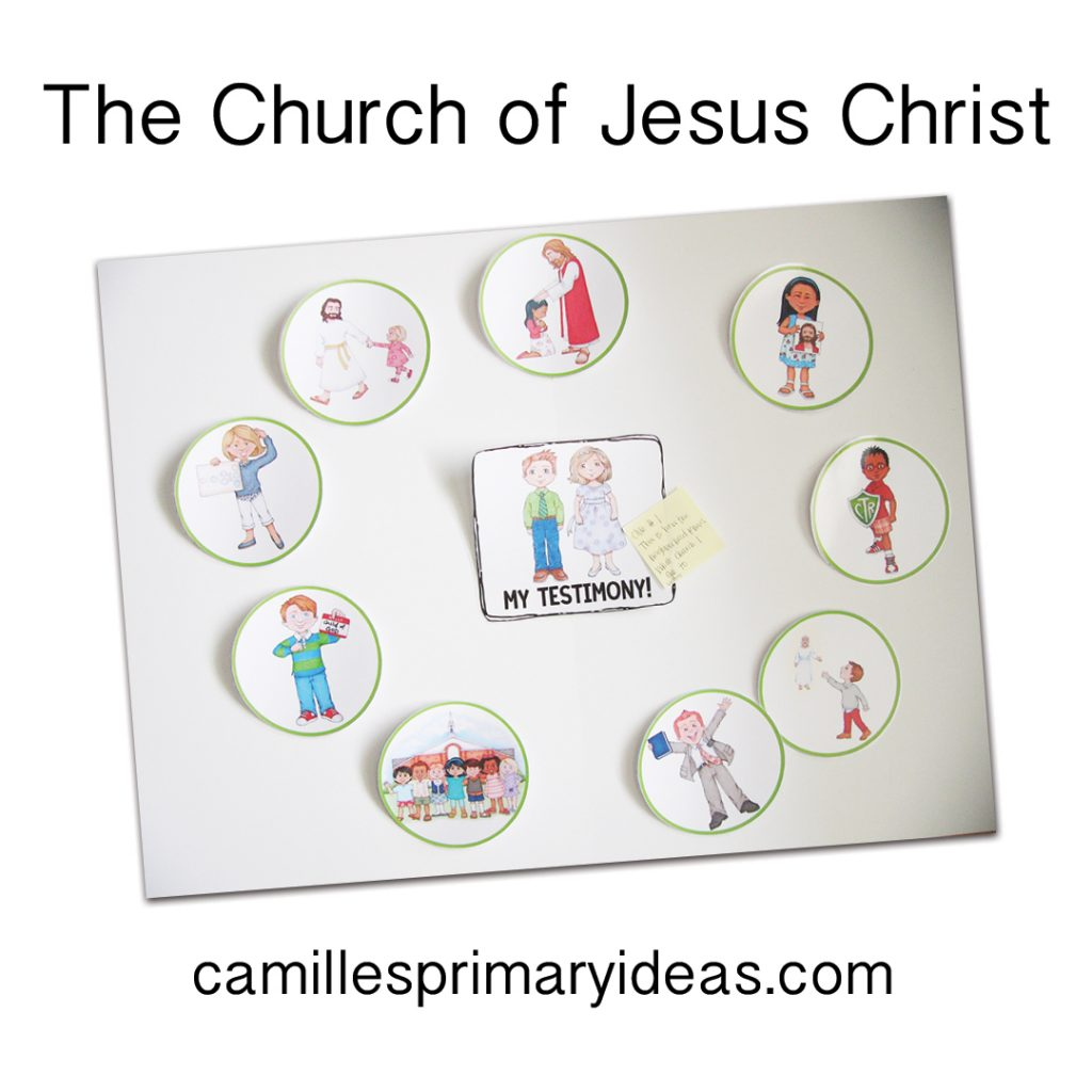Camille's Primary Ideas The Church of Jesus Christ Singing Time Lesson Plan Idea