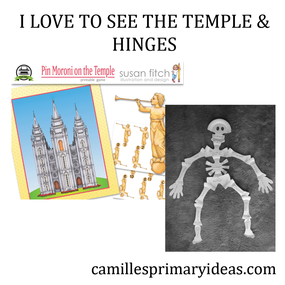Camille's Primary Ideas: I Love To See the Temple & Hinges Singing Time Lesson Plan Idea