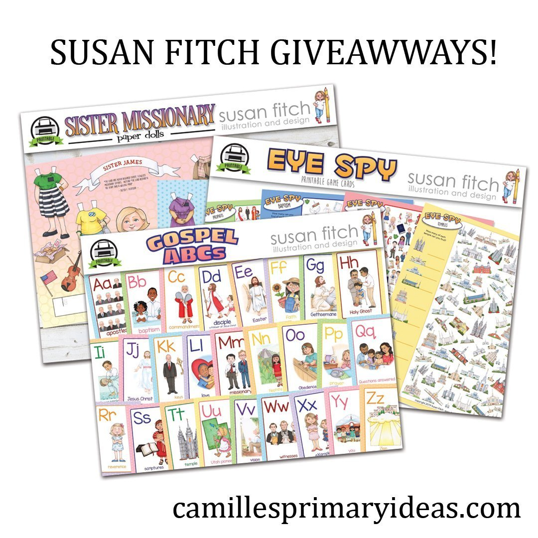 Camille's Primary Ideas: Susan Fitch Giveaways