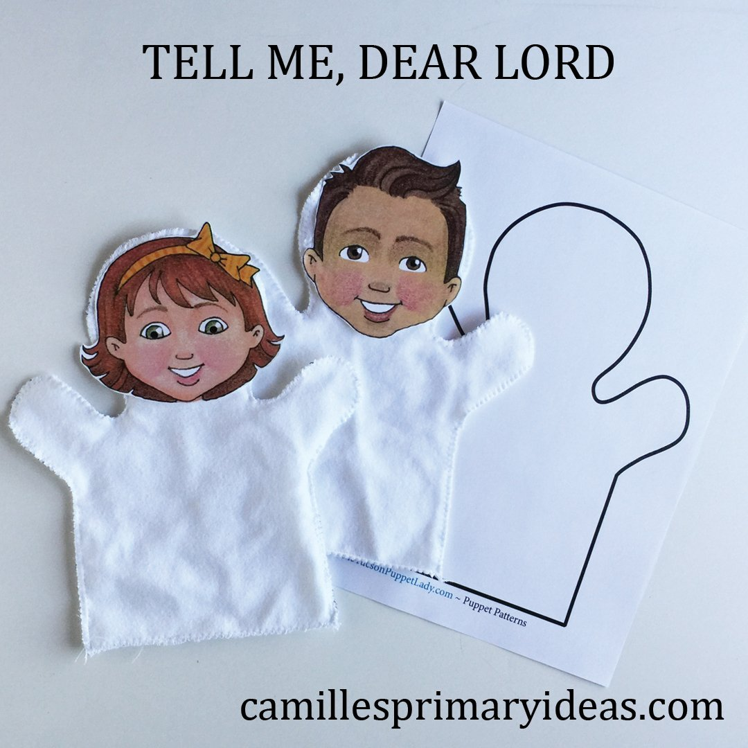 How to Teach Tell Me, Dear Lord singing time lesson plan idea from Camille's Primary Ideas