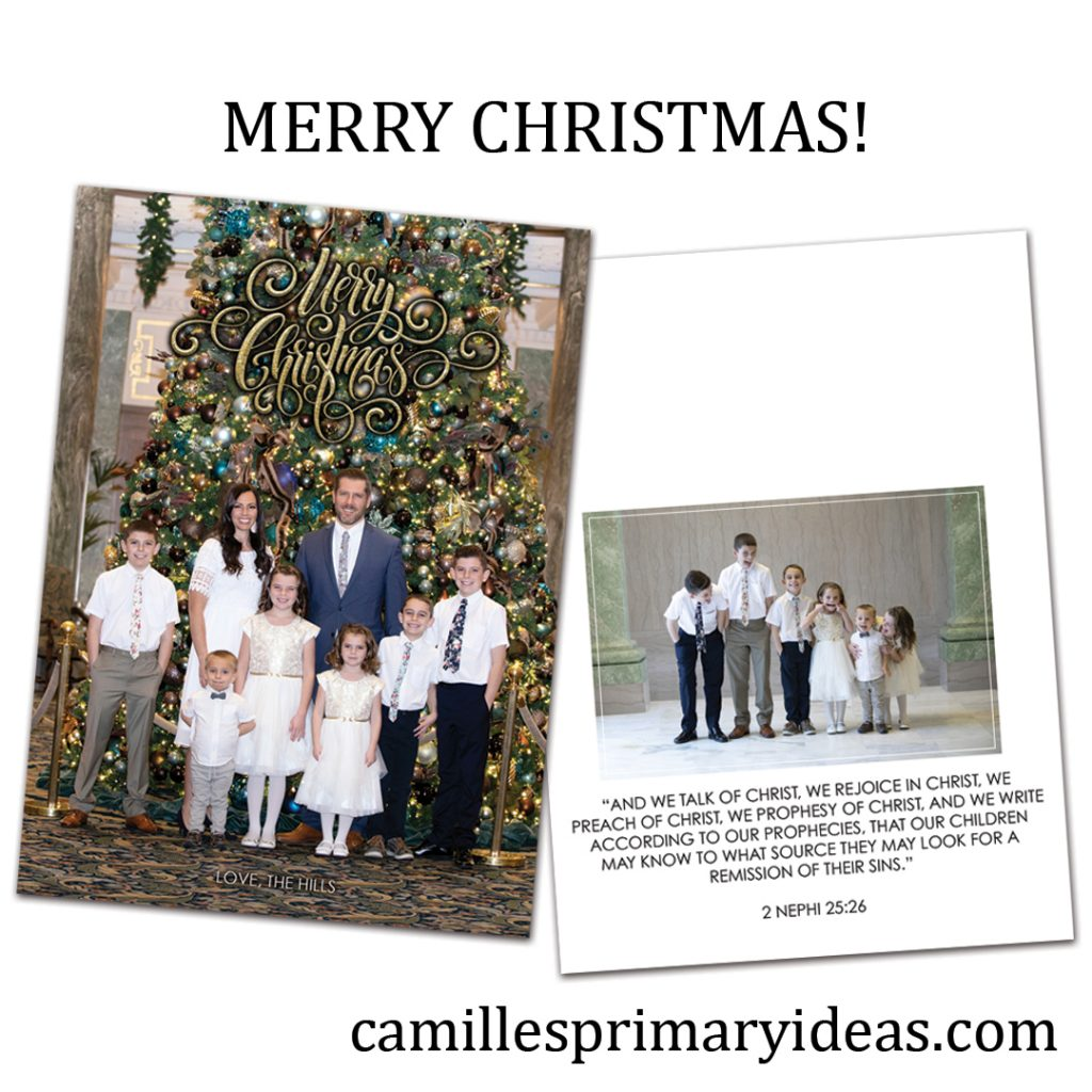 Camille's Primary Ideas: Merry Christmas!