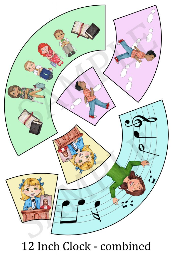 Camille's Primary Ideas: Singing Time Clock Printable