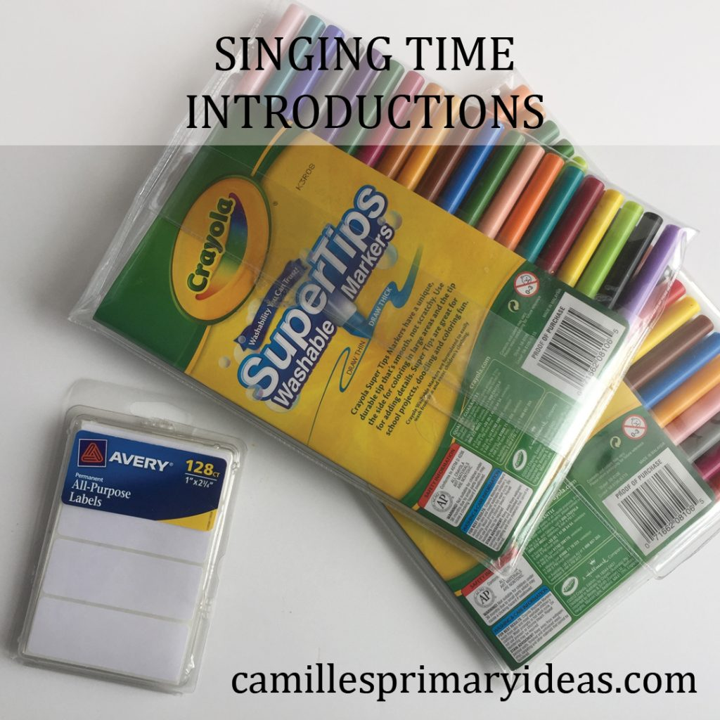 Camille's Primary ideas: singing time introductions