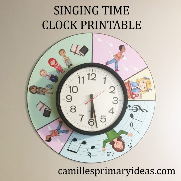 Camille's Primary Ideas: Singing Time Clock Printable Cover