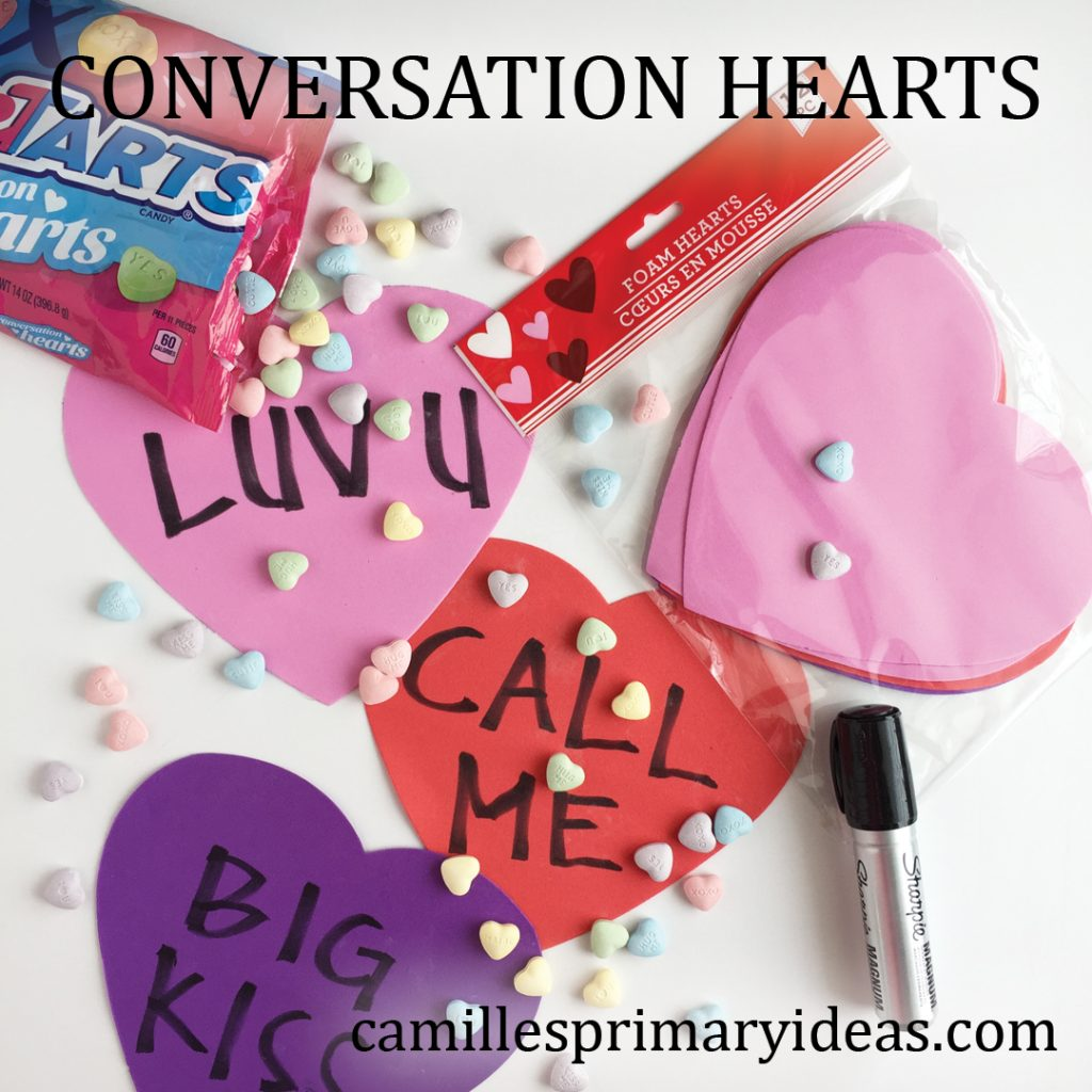 Camille's Primary Ideas: Conversation Hearts Valentine's Day singing time idea