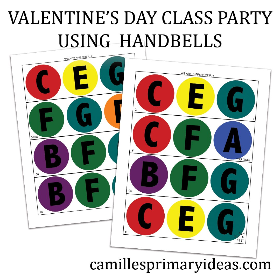 Camille's Primary Ideas: Valentine's Day Class Party Using Handbells