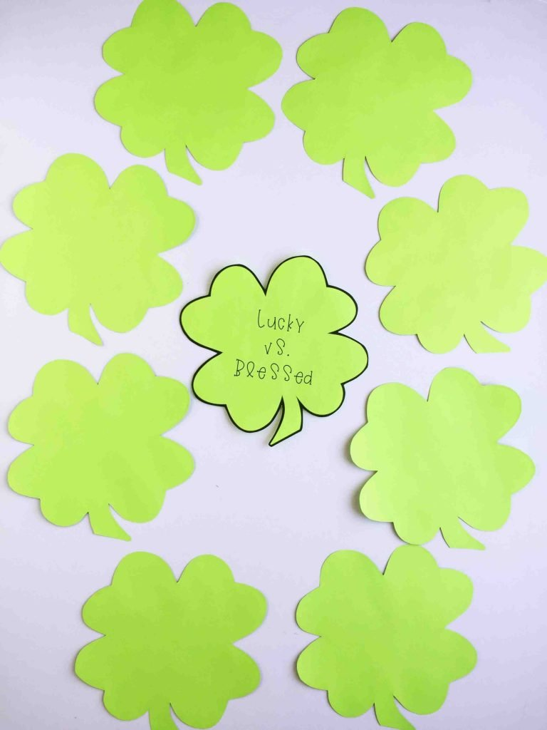 Camille's Primary Ideas: Lucky vs. Blessed St. Patrick's Day singing time idea