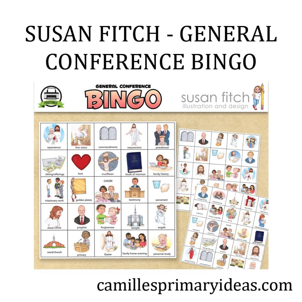 Camille's Primary Ideas: Susan Fitch General Conference Bingo