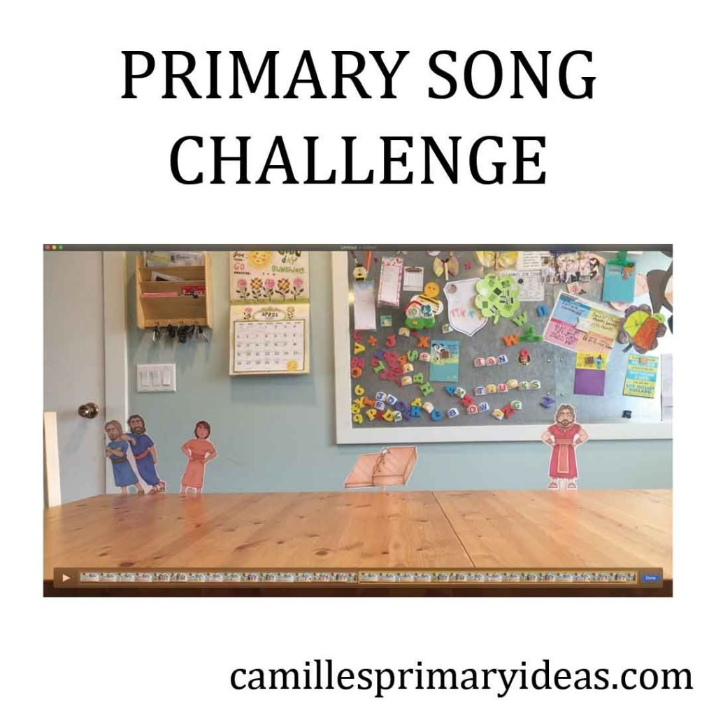 Camille's Primary Ideas: Primary Song Challenge to review primary songs at home