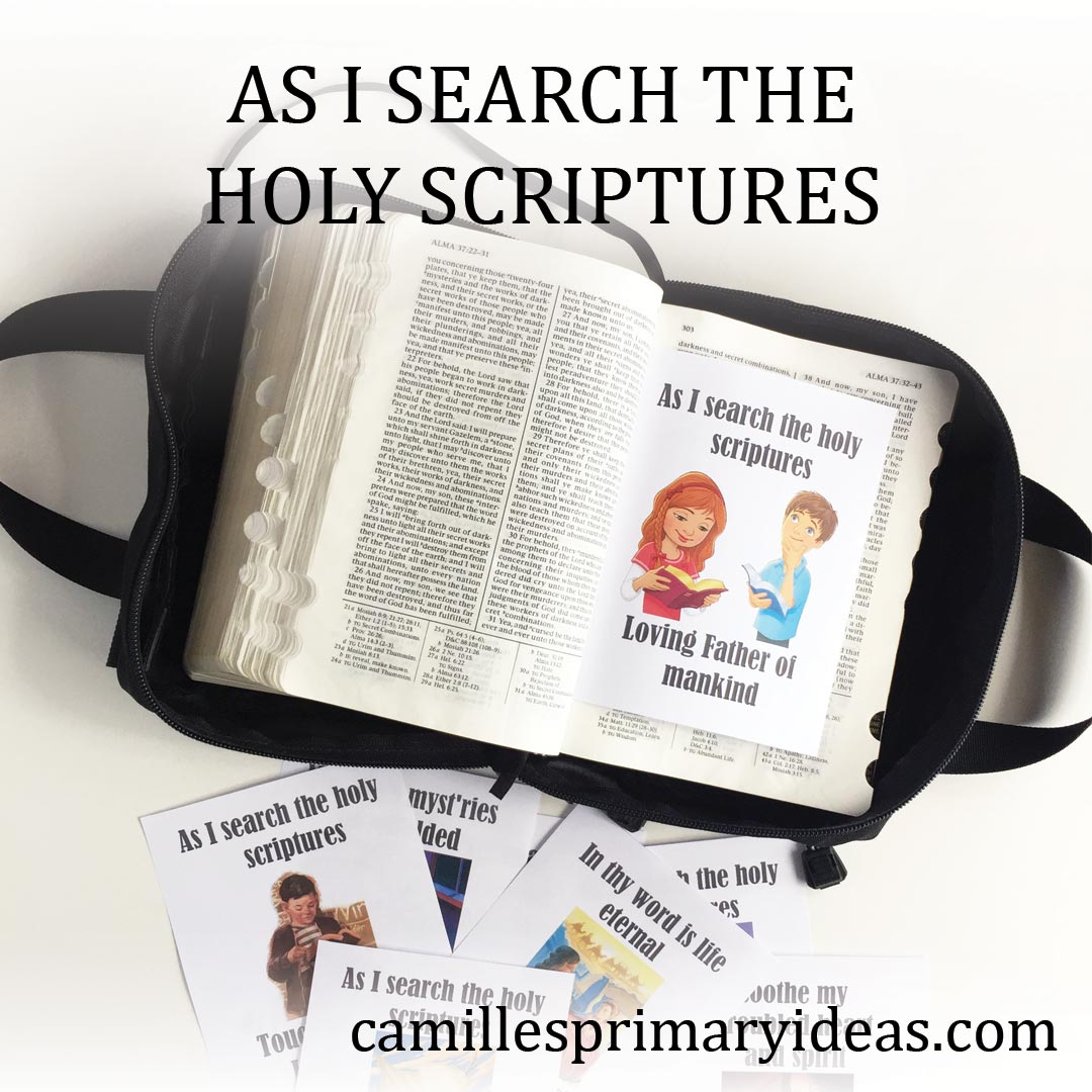 Camille's Primary Ideas: As I Search the Holy Scriptures singing time idea