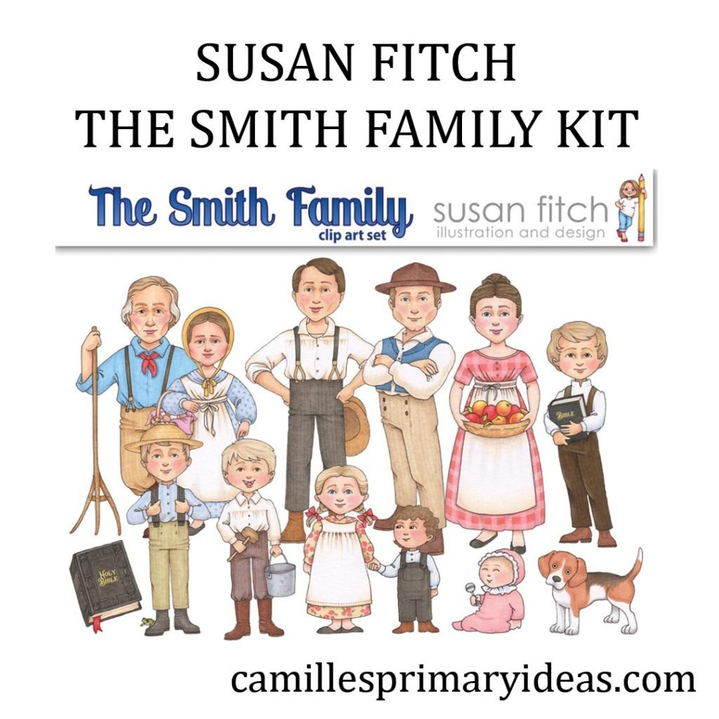 Camille's Primary Ideas: Susan Fitch Joseph Smith Family Clip Art for Come Follow Me Doctrine & Covenants