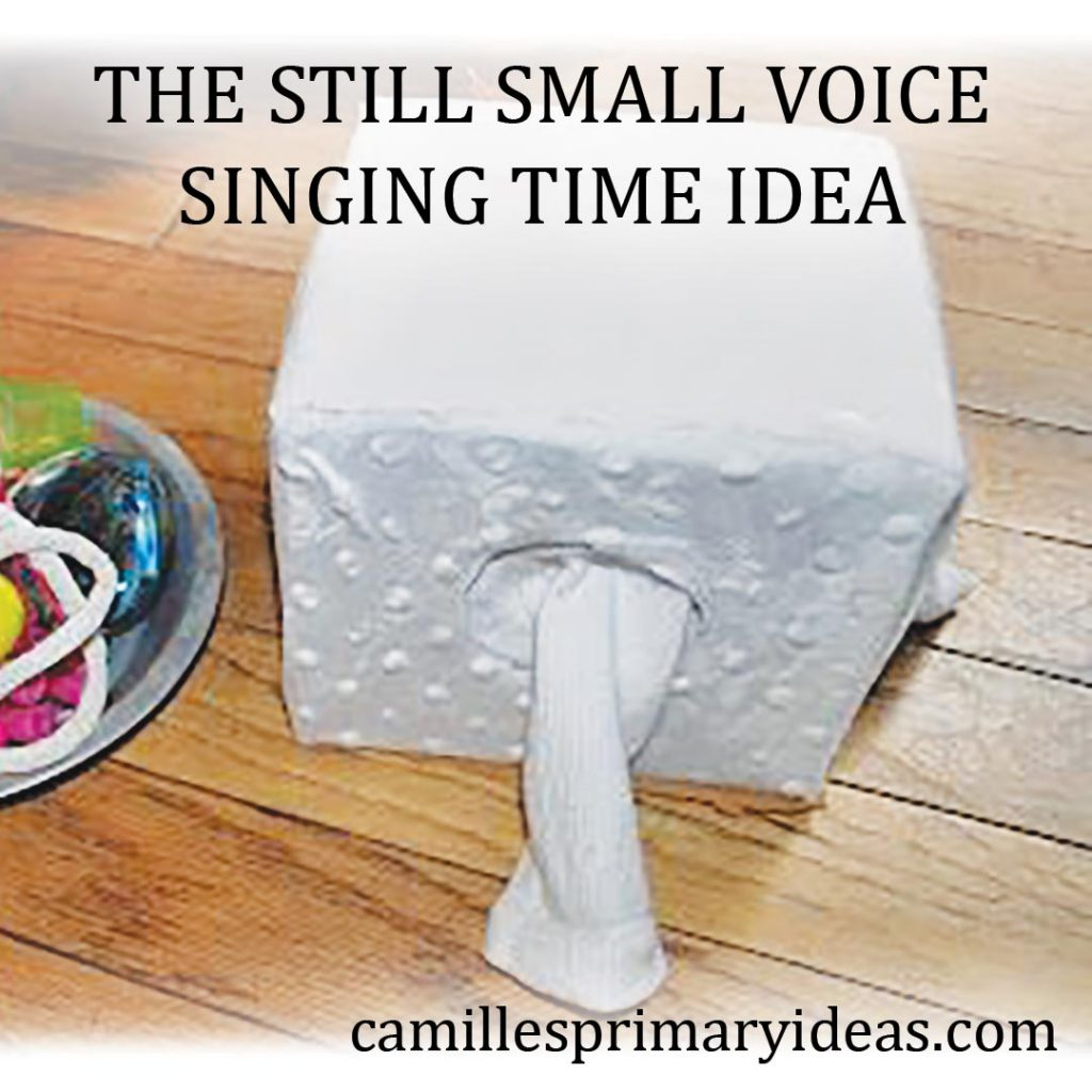 Camille's Primary Ideas: The Still Small Voice singing time idea using a socks box