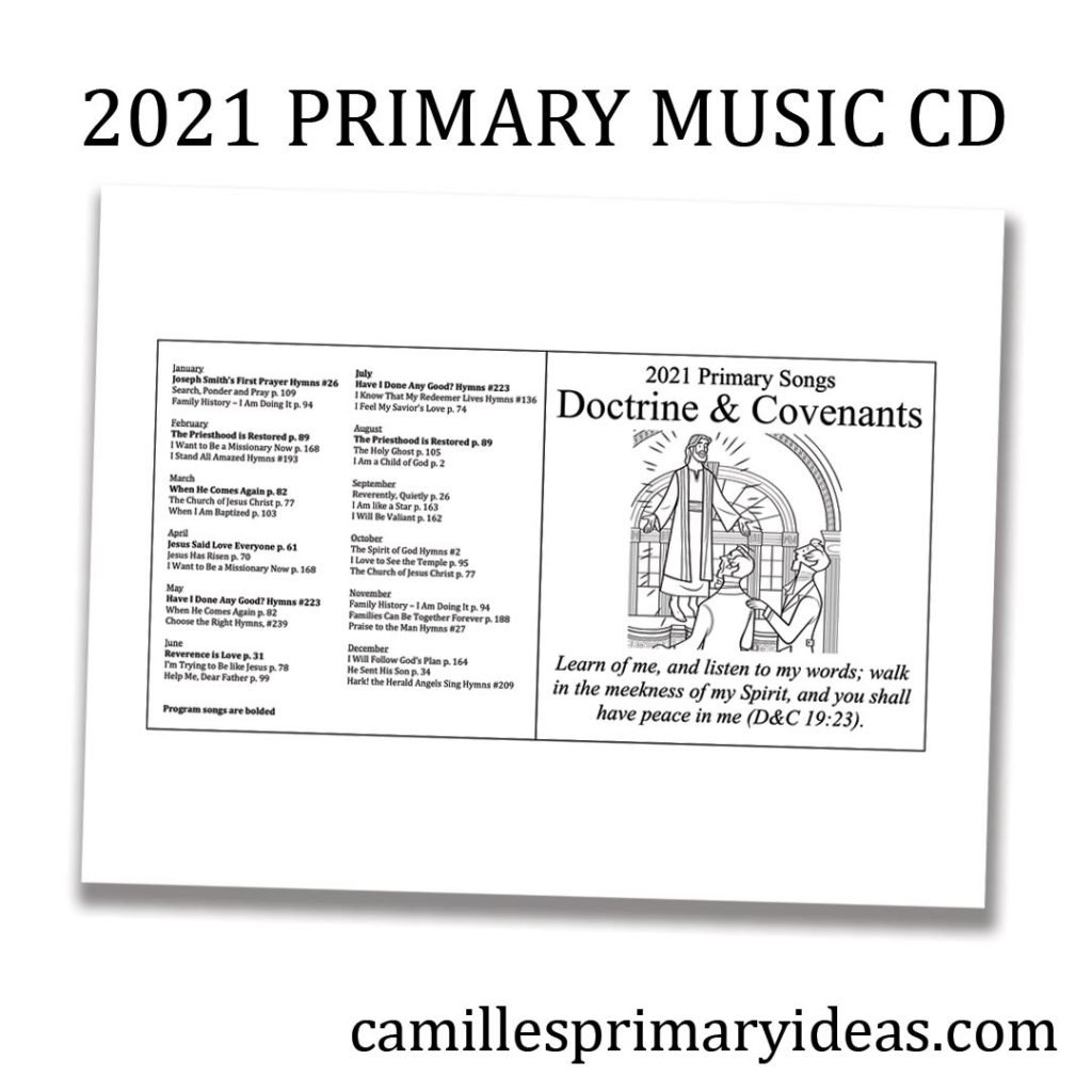Camille's Primary Ideas: 2021 Primary Music CD singing time idea