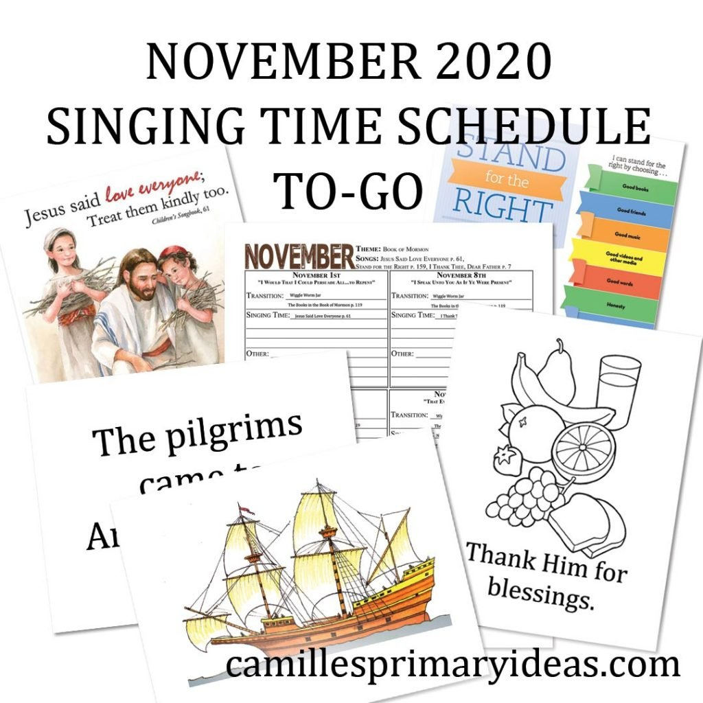 November Singing Time Schedule To-Go