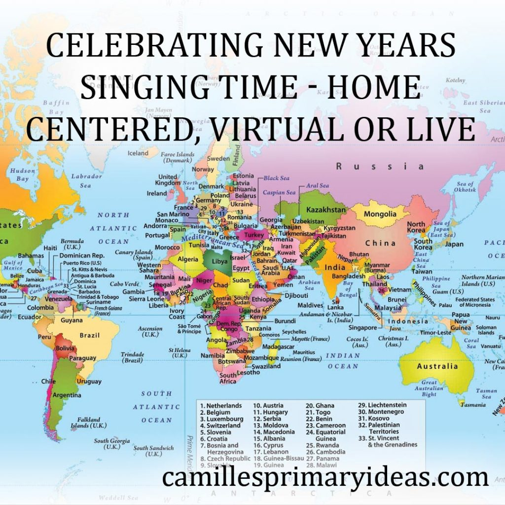 Camille's Primary Ideas: Celebrating New Years Singing Time Lesson Plan Idea