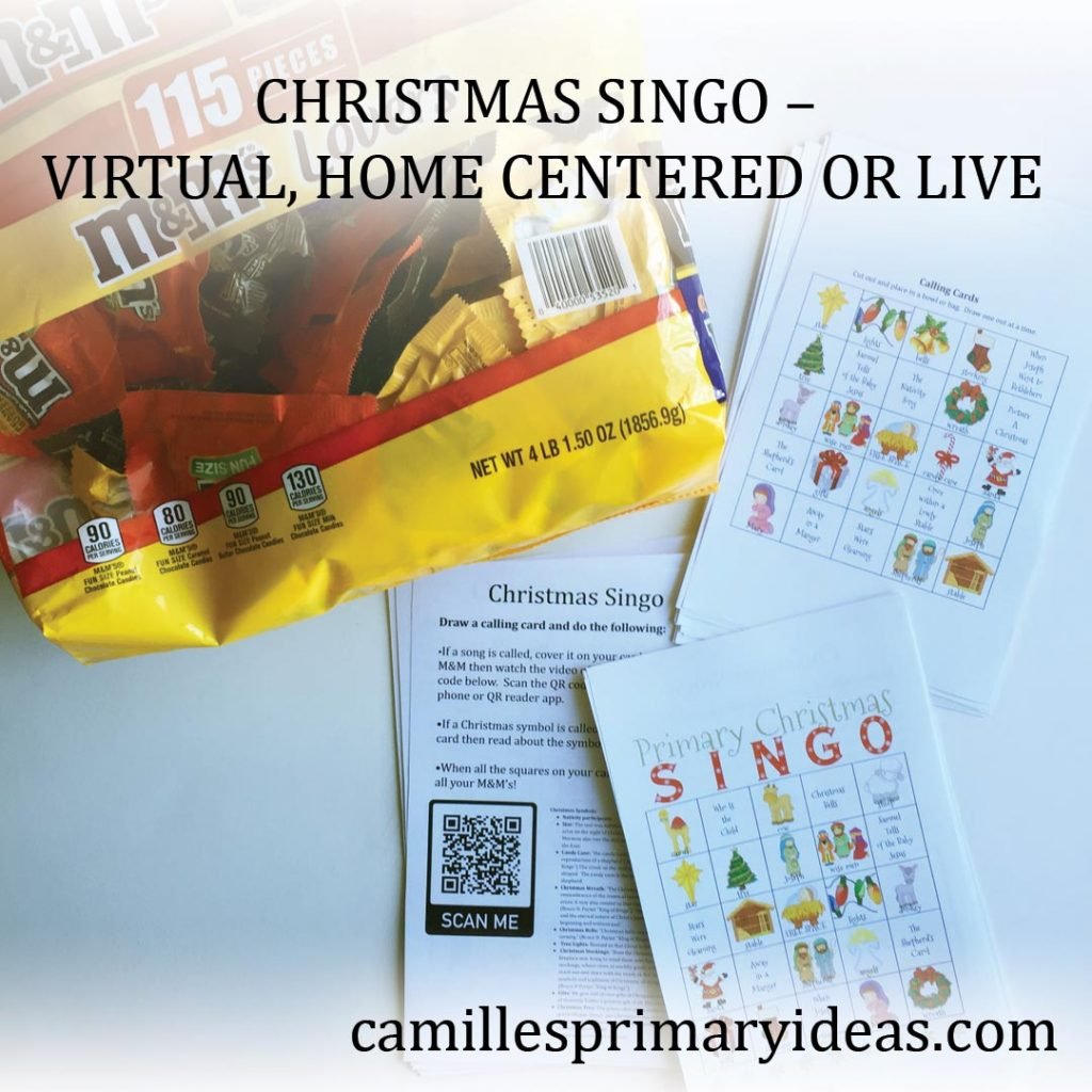 Camille's Primary Ideas: Christmas Singo Virtual, Home Centered or Live