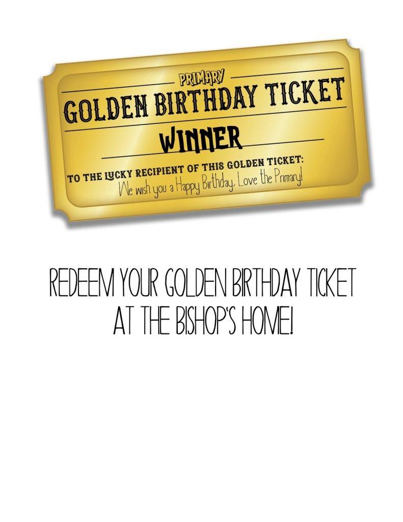 Golden Birthday Letter BISHOP