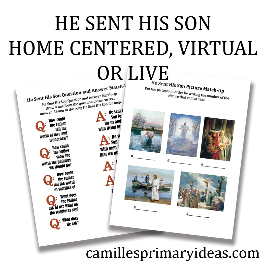 Camille's Primary Ideas: He Sent His Son Worksheet