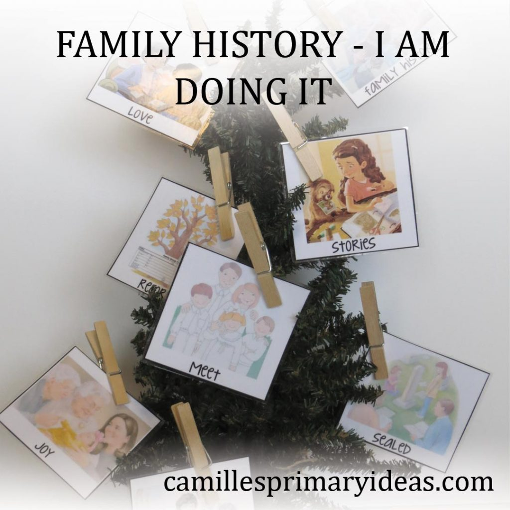 Camille's Primary Ideas: Family History I Am Doing It Singing Time Lesson Plan using a tree