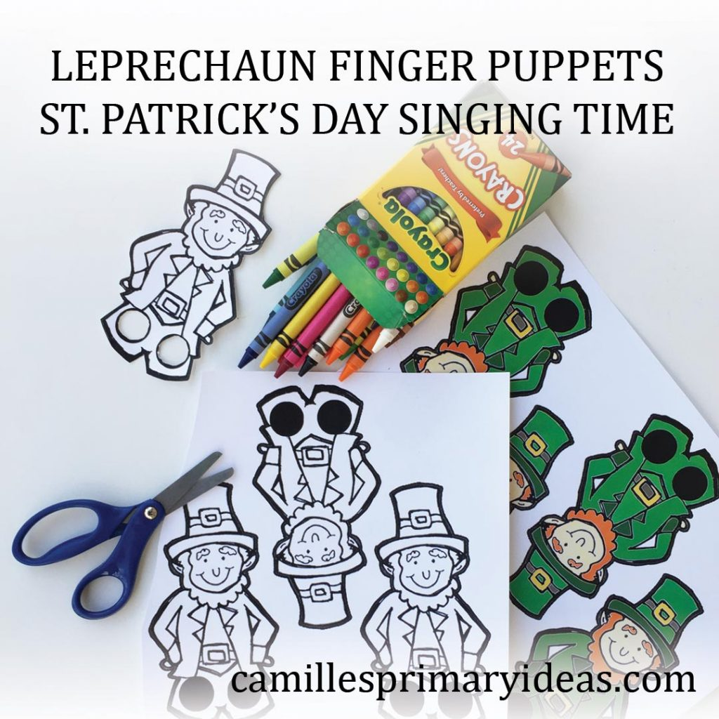 Camille's Primary Ideas: Leprechaun Finger Puppets Singing Time Lesson Plan Idea