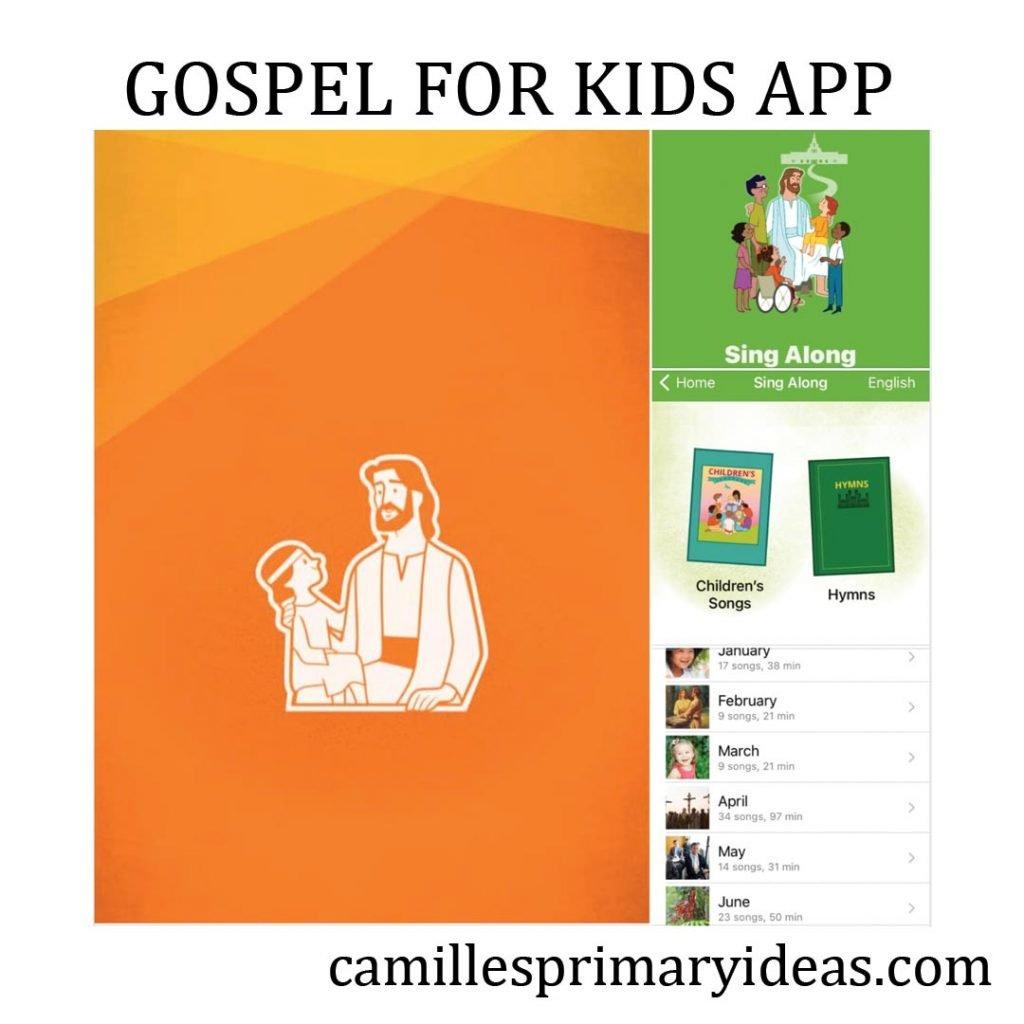 Camille's Primary Ideas: Gospel for Kids app