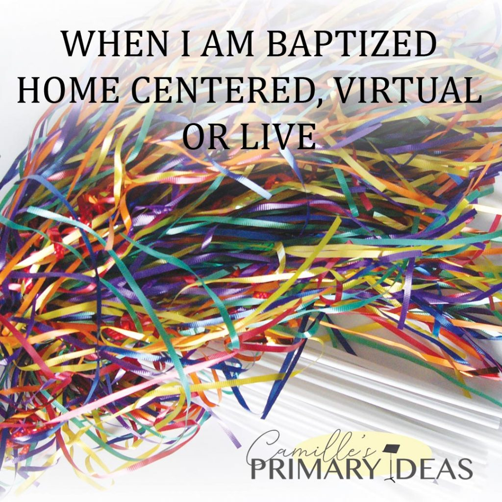 Camille's Primary Ideas: When I Am Baptized Singing Time Lesson Plan Idea