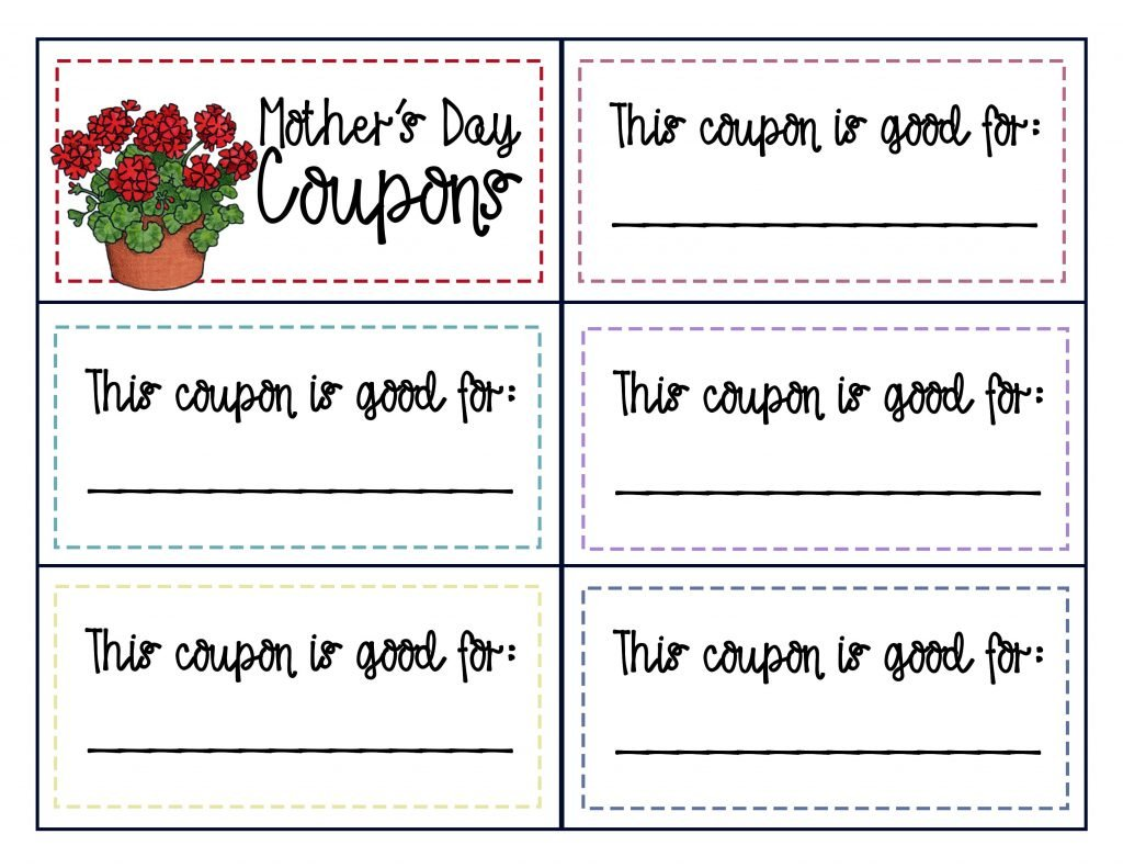 Camille's Primary Ideas: Mother's Day Singing Time Coupons