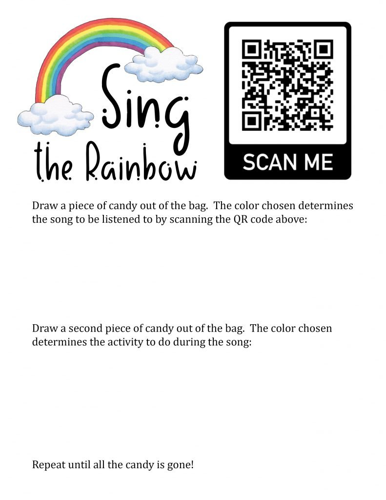 Camille's Primary Ideas: Sing the Rainbow singing time review activity